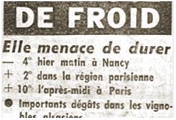 Photo de l'Almanach d'événement météo du 29/4/1960