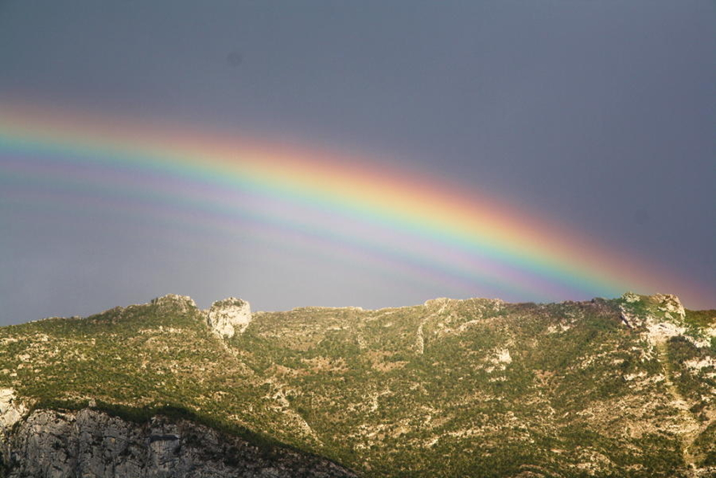 Arc en ciel multiple